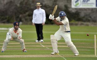 Majid Haq plays a cut