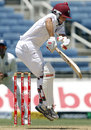 Brendan Nash tries to evade a bouncer, West Indies v India, 1st Test, Kingston, 4th day, June 23, 2011