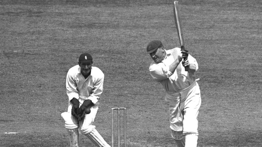 Warwick Armstrong bats in his final Test match