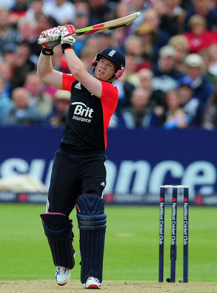 Eoin Morgan hit three sixes and four fours in his 32-ball innings, England v Sri Lanka, only Twenty20, Bristol