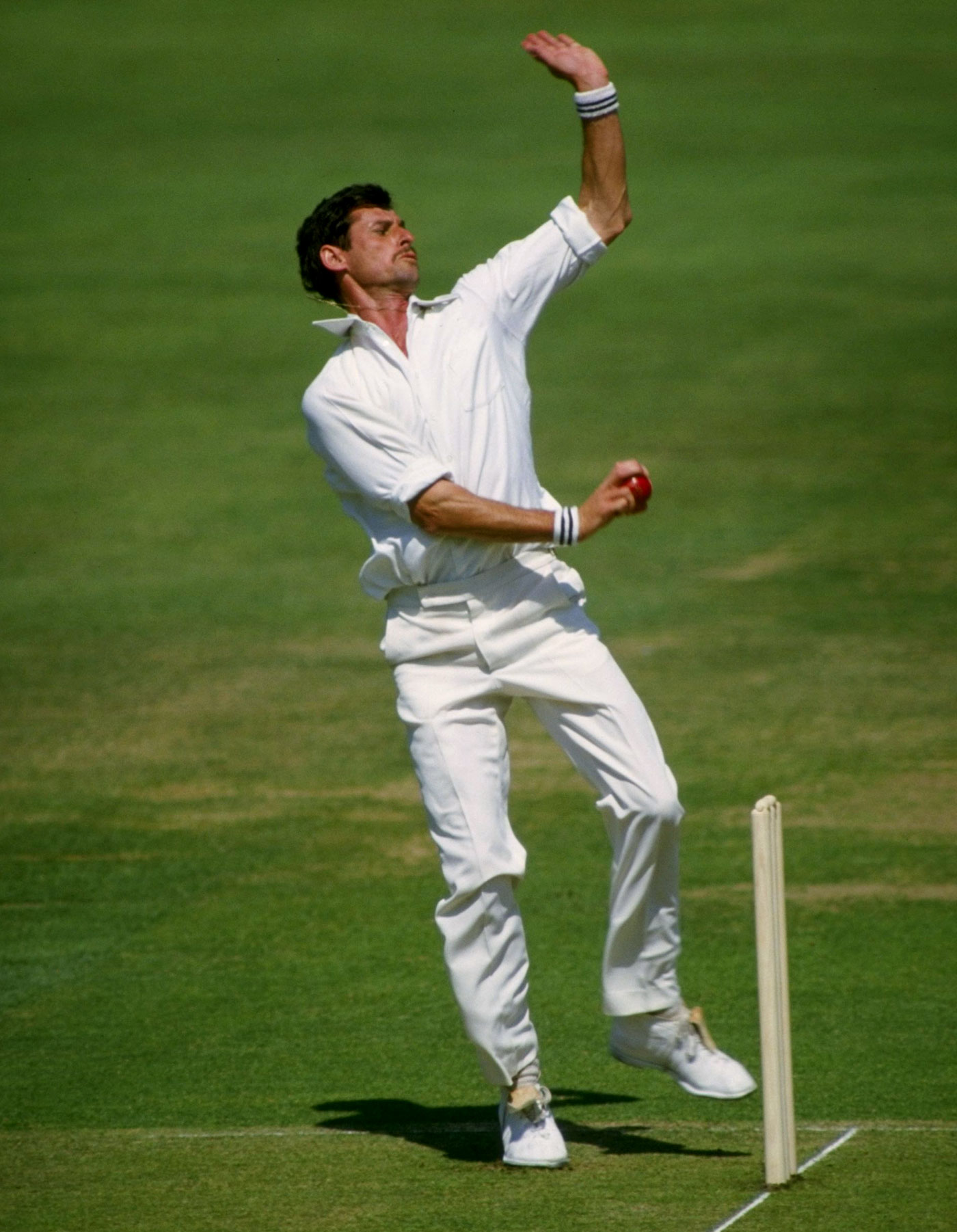 Waste not: Richard Hadlee used a rubbish bin to refine his control and accuracy at the Gabba