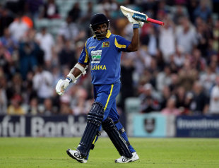 Sanath Jayasuriya fell for just 2 in his 445th and final ODI appearance, England v Sri Lanka, 1st ODI, The Oval, June 28 2011