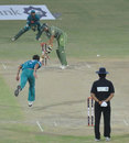 Sohail Tanvir ends Multan's innings by bowling Zulfiqar Babar, Multan v Rawalpindi, Faysal Bank Super Eight T-20 Cup, Faisalabad, June 28, 2011