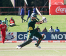 Callum Ferguson cuts during his 52 against Zimbabwe XI