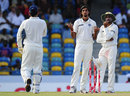 Ishant Sharma and Harbhajan Singh talk to MS Dhoni, West Indies v India, 2nd Test, Bridgetown, 5th day, July 2, 2011