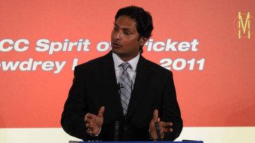 Kumar Sangakkara delivers the MCC Spirit of Cricket Cowdrey Lecture