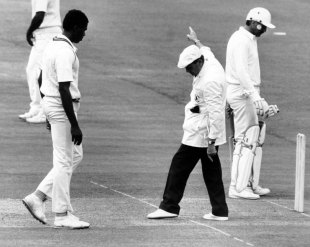Since 1969 bowlers have had to land part of their front foot behind the popping crease while bowling