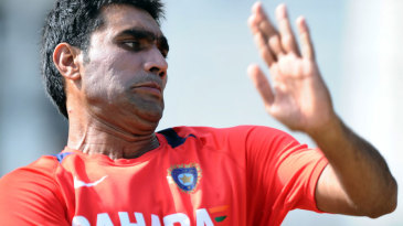Munaf Patel bowls in the nets