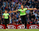 Chris Tremlett celebrates another wicket during his 4 for 16, Surrey v Hampshire, Friends Life t20, The Oval, July 8, 2011