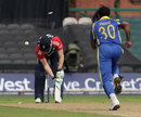 Craig Kieswetter was bowled by Dammika Prasad as England slipped