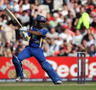 Jeevan Mendis cuts during his 48 against England, England v Sri Lanka, 5th ODI, Old Trafford, July 9 2011