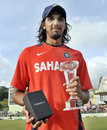 Ishant Sharma was Man of the Series for his 22 wickets, West Indies v India, 3rd Test, Dominica, 5th day, July 10, 2011