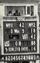 The scoreboard tells the sorry tale after India's lowest Test score, England v India, 2nd Test, Lord's, June 24, 1974
