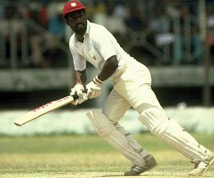 Viv Richards on his way to 180, West Indies v England, Barbados, March 1981