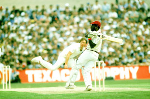 Viv Richards lofts Derek Pringle on his way to 189 not out