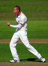 Charl Willoughby cut through India's top order with the new ball, Somerset v Indians, Taunton, 2nd day, July 16, 2011