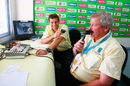 Michael Atherton (left) and Ian Smith in the commentary box at a World Cup game, Beausejour Cricket Ground, Gros Islet, Saint Lucia, March 22, 2007