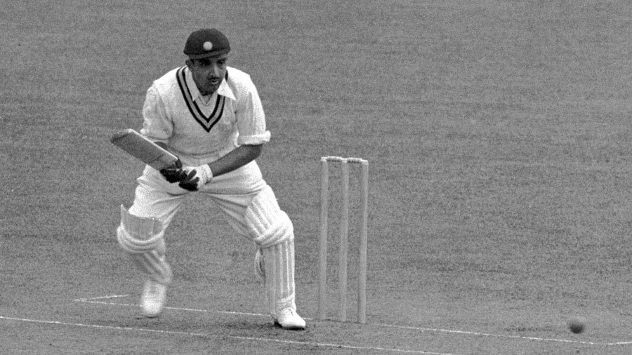 Vijay Merchant bats during India's tour of England in 1946