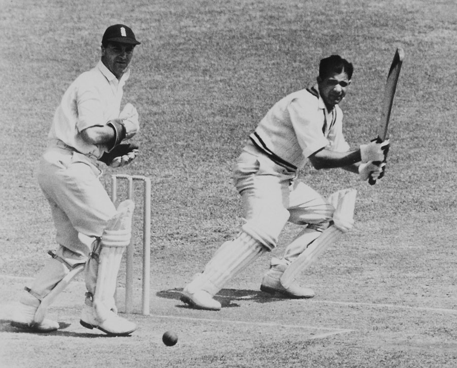 Mankad at Lord's in the 1952 series in England