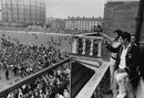 Ajit Wadekar and BS Chandrasekhar celebrate India's win, England v India, 3rd Test, the Oval, 24 August, 1971