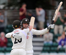 Tom Maynard acknowledges applause for his hundred