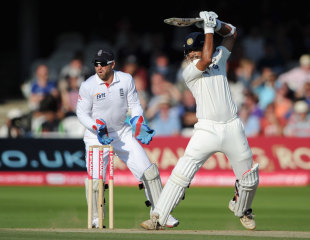 Rahul Dravid guides one through point, England v India, 1st Test, Lord's, 4th day, July 24, 2011