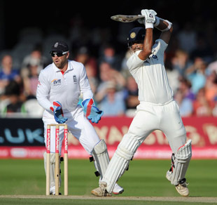 Rahul Dravid guides one through point