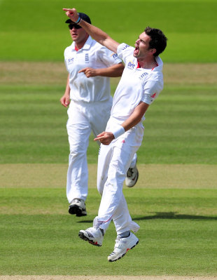 James Anderson is overjoyed after removing Sachin Tendulkar, England v India, 1st Test, Lord's, 5th day, July 25, 2011
