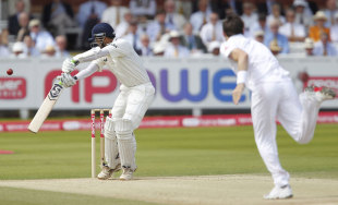 Rahul Dravid edges James Anderson behind, England v India, 1st Test, Lord's, 5th day, July 25, 2011