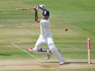 Suresh Raina steers through point, England v India, 1st Test, Lord's, 5th day, July 25, 2011