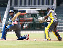 Tillakaratne Dilshan sweeps on his way to a half-century, Kandurata v Basnahira, Sri Lanka Cricket inter-provincial Twenty20, R Premadasa Stadium, Colombo, July 26, 2011