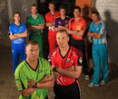 The team captains at the launch of the Big Bash League