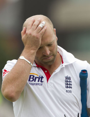 Matt Prior could only manage a single run, England v India, 2nd Test, Trent Bridge, 1st day, July 29, 2011