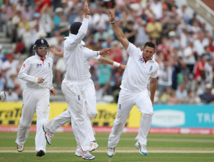 Bresnan shines as England Trample India