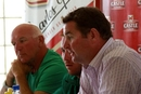 Alistair Campbell, Brendan Taylor and Alan Butcher at the announcement of Zimbabwe's Test team, Harare, August 1 2011