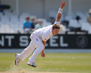 Stuart Meaker steams in for England Lions