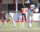 Shahriar Nafees flicks one off his legs on the way to a fifty