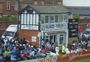 The old press box, called the signal box, at the County Ground, Northampton, August 5, 2011