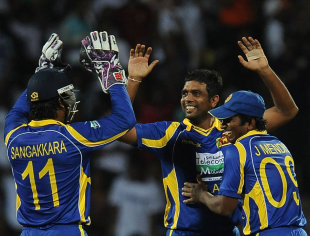 Dilruwan Perera made an impact on debut, taking 3 for 26, Sri Lanka v Australia, 1st Twenty20, Pallekele, August 6, 2011