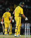 Cameron White is bowled for 7, Sri Lanka v Australia, 1st Twenty20, Pallekele, August 6, 2011