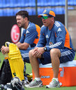 Ricky Ponting and Tim Nielsen watch Australia train, Pallekele, August 7, 2011