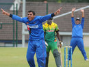 Sayed Shirzad ran through Vanuatu's batting line-up, picking up five wickets, Afghanistan U-19s v Vanuatu U-19s, Bready, August 7, 2011