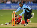 Wayne Parnell ran out Farveez Maharoof as Sussex restricted Lancashire to 152