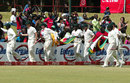 Zimbabwe run a lap of honour, Bangladesh v Zimbabwe, only Test, Harare, 5th day, August 8, 2011