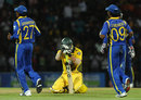 Steve O'Keefe reacts to being run-out, Sri Lanka v Australia, 2nd Twenty20, Pallekele, August 8, 2011