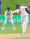Chris Martin drives the ball, New Zealand v Pakistan, 2nd Test, Wellington, 3rd day, December 6, 2009