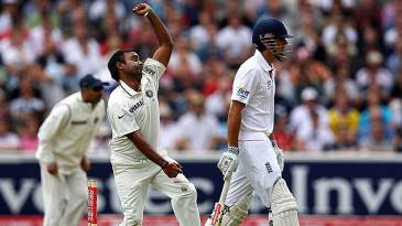 Amit Mishra spun the ball but couldn't find his way past the England batsmen in the morning