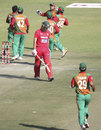 Zimbabwe celebrate after dismissing Craig Ervine first ball