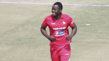 Brian Vitori made it ten wickets in his first two ODIs