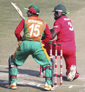 Hamilton Masakadza scores through the leg side, Zimbabwe v Bangladesh, 2nd ODI, Harare, August 14, 2011